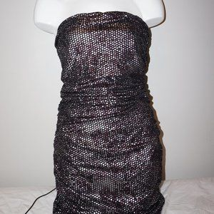 Express Black Fitted Dress w/ Side Ruching NWT